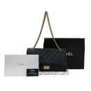 Chanel(샤넬) A37590Y04634 빈티지 블랙 2.55 L사이즈 금장로고 체인 숄더백 [부산센텀본점]