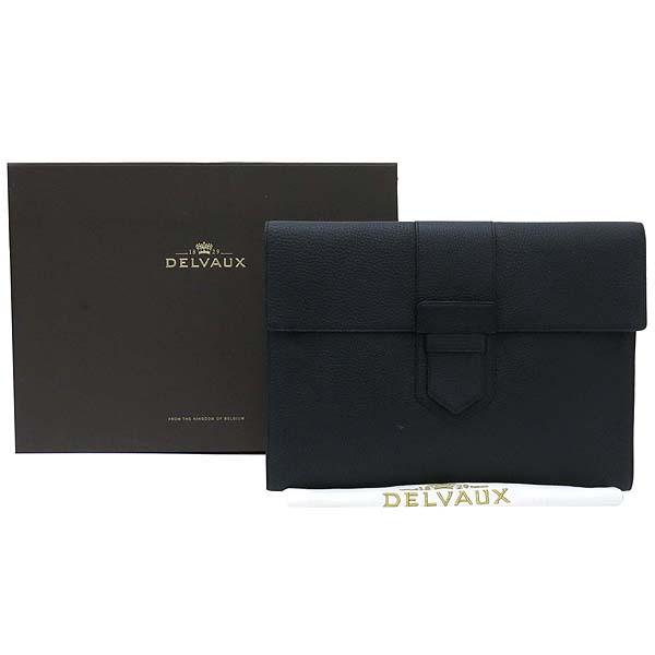 DELVAUX(델보) PRESSE  블랙 컬러 레더 클러치 [강남본점]