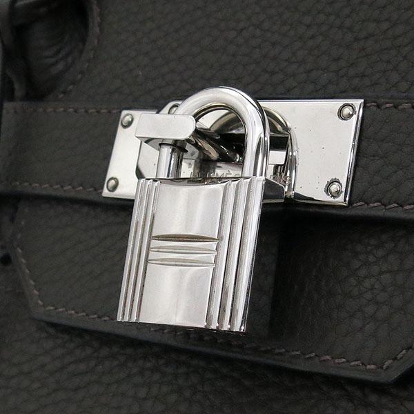 Hermes(에르메스) 숄더 벌킨 42 다크 카키브라운 은장로고 락 장식 토트 or 숄더백 [부산센텀본점] 이미지4 - 고이비토 중고명품