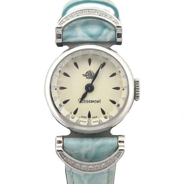 ROSEMONT(로즈몽) RS032 라운드 스틸 가죽 밴드 여성용 시계 [인천점]