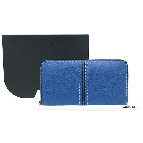 VALEXTRA(발렉스트라) V9L06 블루 컬러 짚업 장지갑 [강남본점]