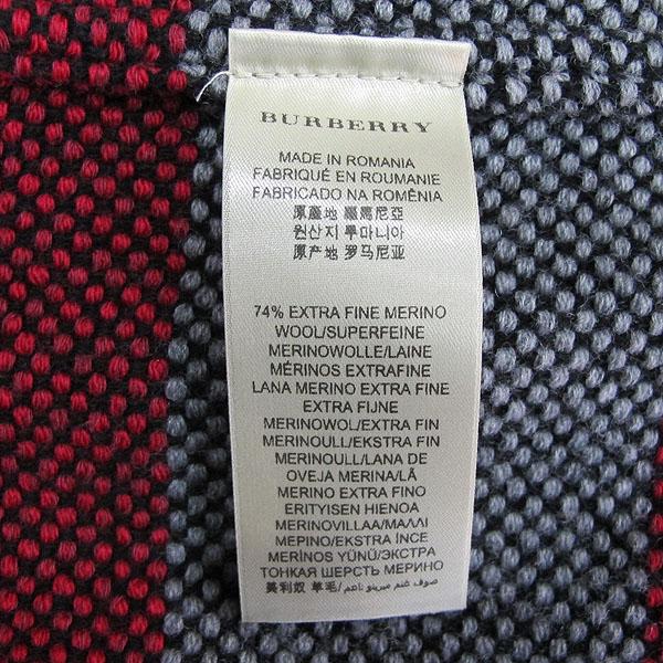 Burberry(버버리) 울 혼방 그레이 레드 체크 여성용 니트 더블 자켓 [동대문점] 이미지4 - 고이비토 중고명품