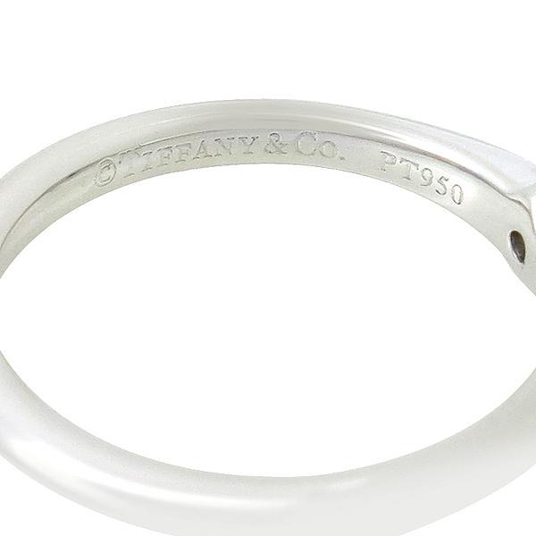 Tiffany(티파니) 34724768 PT950 플래티늄 골드 티파니세팅 1포인트 다이아 0.19캐럿 I컬러 VVS2 웨딩밴드 링 반지 [강남본점] 이미지4 - 고이비토 중고명품