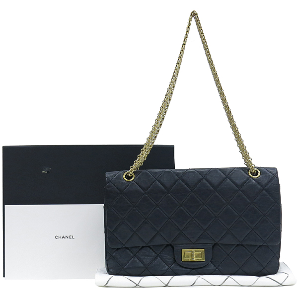Chanel(샤넬) A37590Y04634 빈티지 블랙 2.55 L사이즈 금장로고 체인 숄더백 [대구반월당본점]