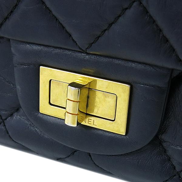 Chanel(샤넬) A37590Y04634 빈티지 블랙 2.55 L사이즈 금장로고 체인 숄더백 [대구반월당본점] 이미지4 - 고이비토 중고명품