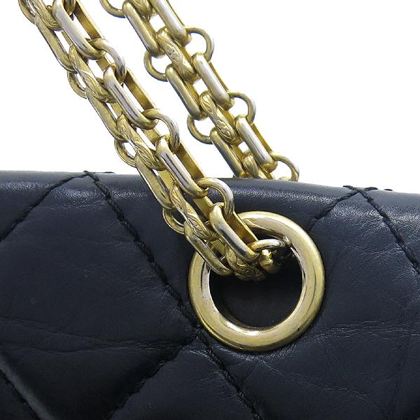 Chanel(샤넬) A37590Y04634 빈티지 블랙 2.55 L사이즈 금장로고 체인 숄더백 [대구반월당본점] 이미지5 - 고이비토 중고명품
