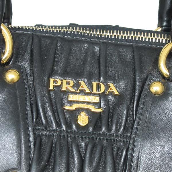 Prada(프라다)  BN1935 블랙 램스킨 고프레 토트백 + 숄더 스트랩 [대구황금점] 이미지3 - 고이비토 중고명품