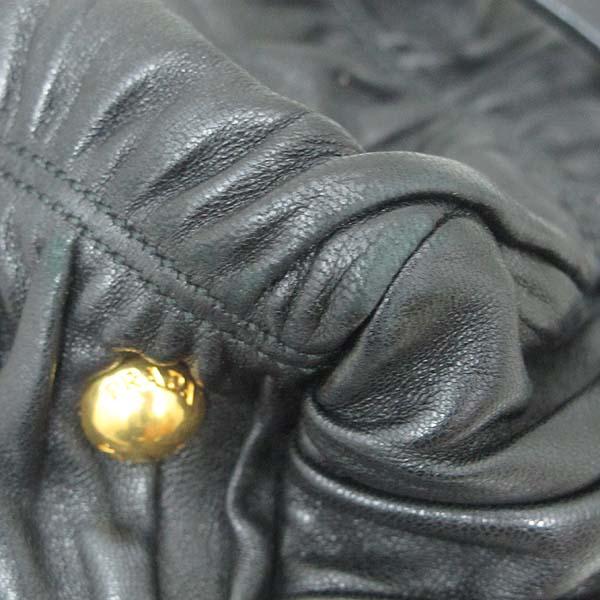 Prada(프라다)  BN1935 블랙 램스킨 고프레 토트백 + 숄더 스트랩 [대구황금점] 이미지5 - 고이비토 중고명품