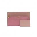 MiuMiu(미우미우) 5M1183 금장 로고 장식 핑크 레더 집업 장지갑 [부산센텀본점]