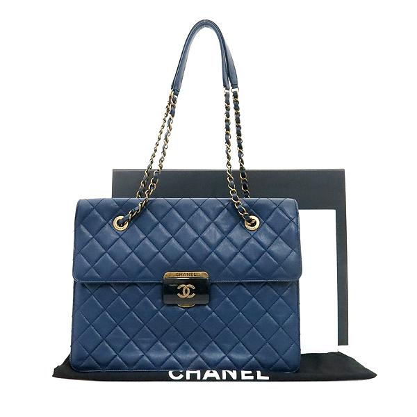 Chanel(샤넬) A93228Y60545 16SS 네이비 램스킨 Beauty Rock(뷰티락) 장식 빈티지 체인 쇼퍼 숄더백 [부산센텀본점]