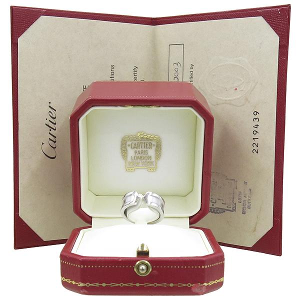 Cartier(까르띠에) B4040500 18K 화이트골드 더블 C(C2) 반지 - 9호 [강남본점]