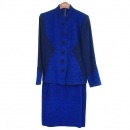 YSL(입생로랑) 블루 컬러 여성용 자켓 + 스커트 SET [동대문점]