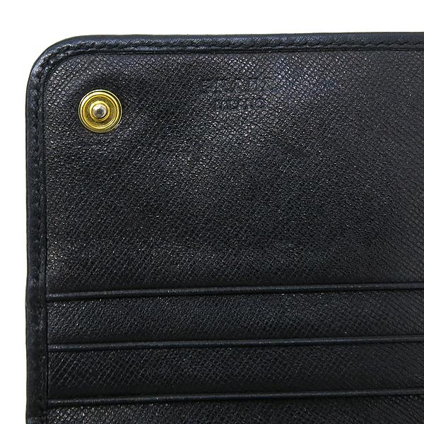 Prada(프라다) 밀라노 패브릭 블랙 사피아노 레더 트리밍 장지갑