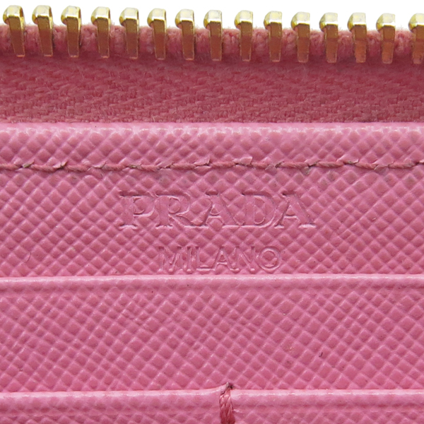 Prada(프라다) 1M1183 금장 로고 장식 사피아노 지퍼 장지갑