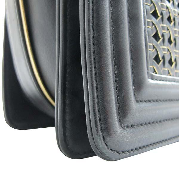 Chanel(샤넬) 블랙 위빙 레더 보이샤넬 S사이즈 금장로고 체인 숄더백 [인천점] 이미지5 - 고이비토 중고명품