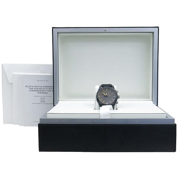 IWC(아이더블유씨) IW388002 PILOT'S WATCH TOP GUN 탑건 메카니컬 크로노그래프 오토매틱 데이트 세라믹+티타늄 케이스 블랙 텍스타일 밴드 스트랩 폴딩 버클 남성용시계 [강남본점]