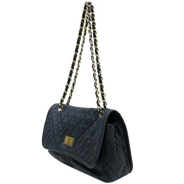 Chanel(샤넬) 크루즈컬렉션 빈티지 금장 더블포켓 블랙 CALF 레더 금장체인 숄더백 [강남본점] 이미지3 - 고이비토 중고명품
