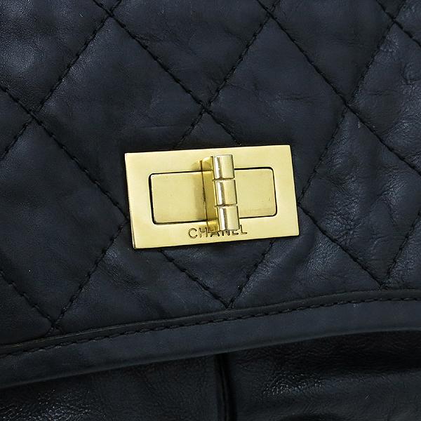 Chanel(샤넬) 크루즈컬렉션 빈티지 금장 더블포켓 블랙 CALF 레더 금장체인 숄더백 [강남본점] 이미지4 - 고이비토 중고명품