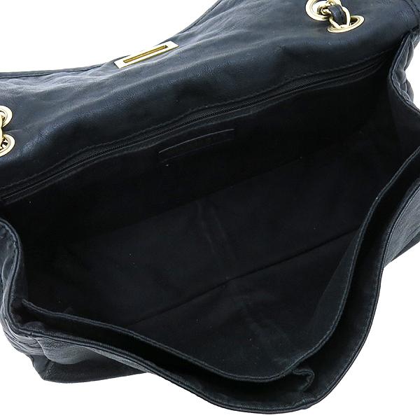 Chanel(샤넬) 크루즈컬렉션 빈티지 금장 더블포켓 블랙 CALF 레더 금장체인 숄더백 [강남본점] 이미지6 - 고이비토 중고명품