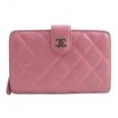 Chanel(샤넬) A48667 램스킨 핑크 은장로고 짚업 2단 중지갑 [인천점]
