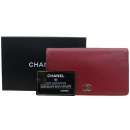 Chanel(샤넬) A46314 레드 컬러 캐비어 스킨 장지갑 [강남본점]