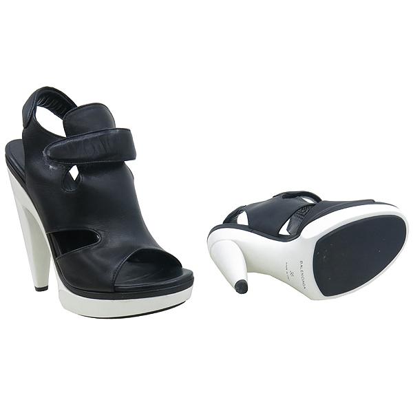 Balenciaga(발렌시아가) 214986 블랙 레더 하이힐 여성용 구두 [강남본점] 이미지2 - 고이비토 중고명품