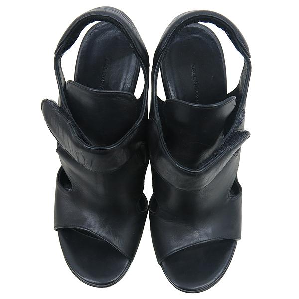Balenciaga(발렌시아가) 214986 블랙 레더 하이힐 여성용 구두 [강남본점] 이미지5 - 고이비토 중고명품