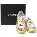 Chanel(샤넬) G30442 트위드 골드 메탈릭 크루즈 런닝 여성용 스니커즈 [대구반월당본점]