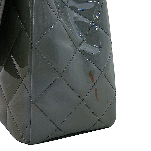 Chanel(샤넬) A28600 그레이  페이던트 클래식 점보 L사이즈 은장 체인 숄더백 [부산본점]