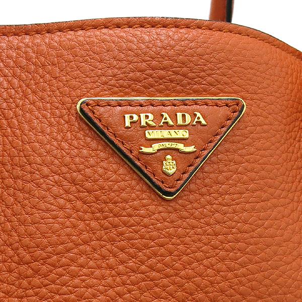 Prada(프라다) DAINO(비텔로다이노) 오렌지 레더 토트백 + 숄터 스트랩 [대구반월당본점]