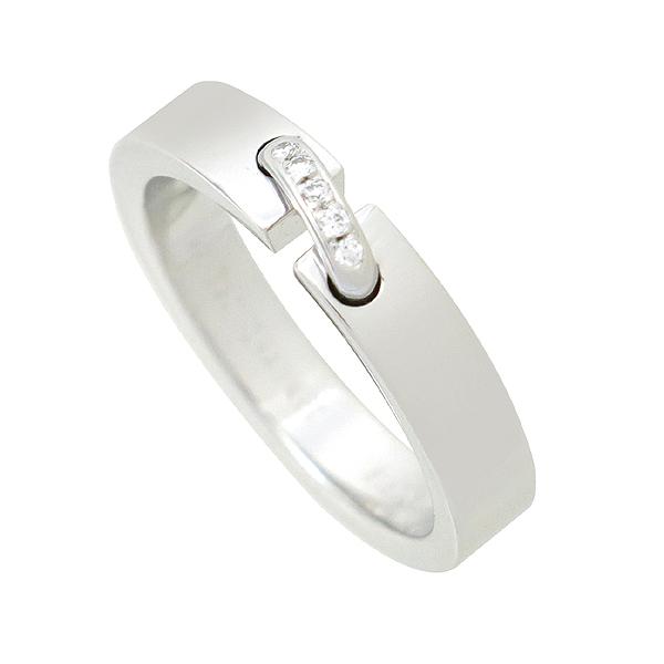 CHAUMET(쇼메) 18K 750 화이트골드 4MM 리앙 5포인트 다이아몬드 반지 - 13호 [강남본점]