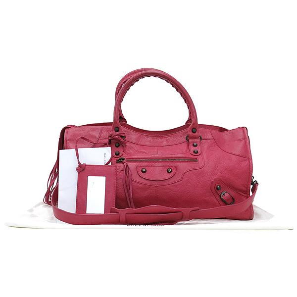 Balenciaga(발렌시아가) 168028 빈티지 램스킨 핑크 클래식 파트타임 모터 토트백 + 숄더스트랩 2WAY [대구반월당본점]