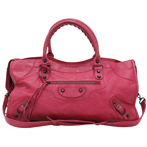 Balenciaga(발렌시아가) 168028 빈티지 램스킨 핑크 클래식 파트타임 모터 토트백 + 숄더스트랩 2WAY [대구반월당본점] 이미지2 - 고이비토 중고명품
