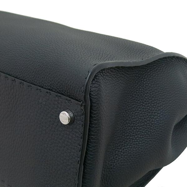 Fendi(펜디) 8BN210 은장로고 더블 락 장식 블랙 로만 레더 셀러리아 피카부 2WAY [부산서면롯데점] 이미지5 - 고이비토 중고명품