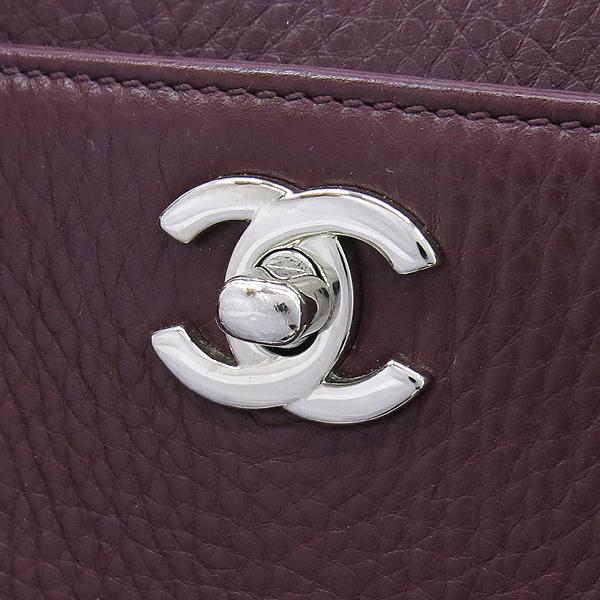 Chanel(샤넬) A15206 소프트카프 스킨 버건디컬러 은장 COCO로고 신형 서프 2WAY [강남본점] 이미지3 - 고이비토 중고명품