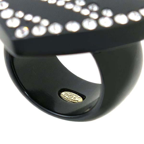 Chanel(샤넬) COCO 로고 블랙 컬러 반지 - 13호 [강남본점] 이미지3 - 고이비토 중고명품