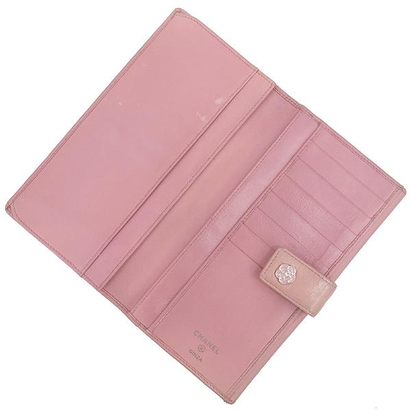 Chanel(샤넬) 핑크레더 퀼팅 까멜리아 장지갑 [강남본점] 이미지2 - 고이비토 중고명품
