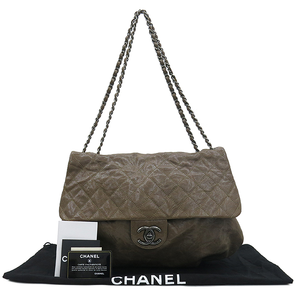 Chanel(샤넬) A67318Y077548 빈티지 COCO로고 브라운 캐비어스킨 체인 숄더백 [강남본점]