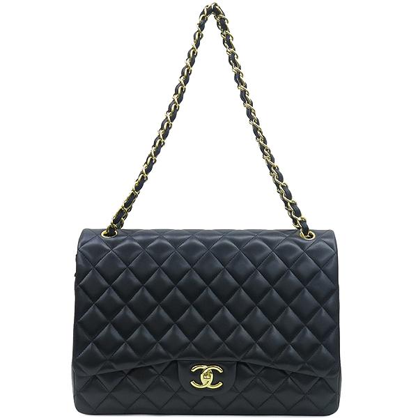 Chanel(샤넬) A58601 램스킨 블랙 클래식 맥시 사이즈 금장로고 체인 플랩 숄더백 [강남본점] 이미지2 - 고이비토 중고명품