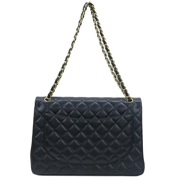 Chanel(샤넬) A58601 램스킨 블랙 클래식 맥시 사이즈 금장로고 체인 플랩 숄더백 [강남본점] 이미지4 - 고이비토 중고명품