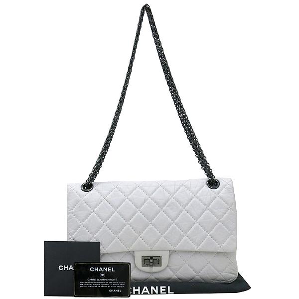 Chanel(샤넬) 2.55 빈티지 M 사이즈 화이트 체인 숄더백 [강남본점]