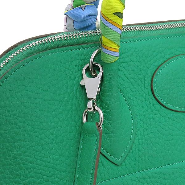 Hermes(에르메스) 볼리드 VERT BENGHAL(그린)컬러 35 토트백 + 숄더스트랩 + 정품 트윌리 스카프SET [대구동성로점] 이미지4 - 고이비토 중고명품