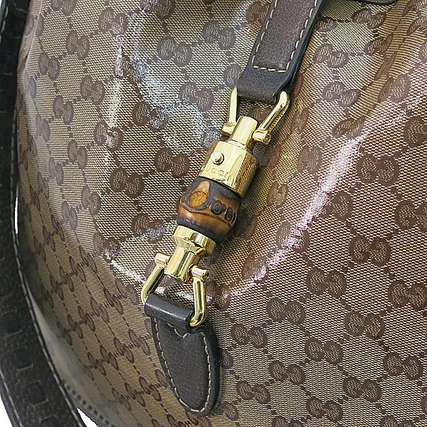 Gucci(구찌) 218491 GG로고 PVC 브라운 레더 트리밍 태슬 장식 재키 2WAY [부산서면롯데점] 이미지4 - 고이비토 중고명품