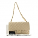 Chanel(샤넬) A58600 클래식 베이지 컬러 캐비어스킨 점보(L사이즈) 금장 체인 숄더백 [인천점]