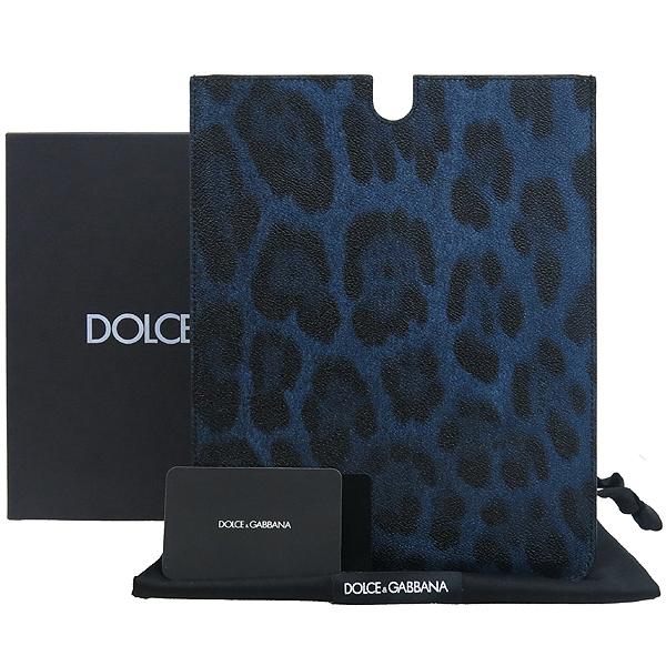D&G(돌체&가바나) BV0087 블루 블랙 레오파드 PVC태블릿 케이스 [강남본점]