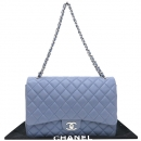 Chanel(샤넬) A47600 램스킨 클래식 라이트 퍼플 컬러 맥시 사이즈 은장 체인 숄더백 [대구반월당본점]