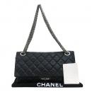 Chanel(샤넬) 빈티지 블랙 2.55 맥시 사이즈 은장로고 체인 숄더백 [부산센텀본점]