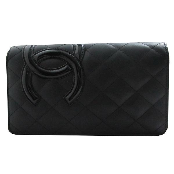 5b13a6b5d5f Chanel(샤넬) A26717Y03880 블랙 COCO 로고 깜봉 장지갑 [인천점 ...
