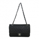 Chanel(샤넬) A01112Y01490 램스킨 블랙 클래식 M사이즈 은장 체인 숄더백 [동대문점]