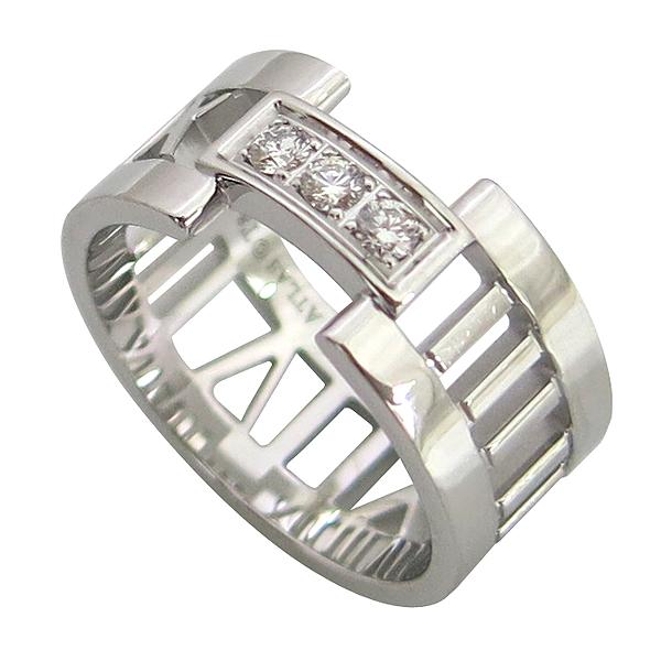 Tiffany(티파니) 18K(750) 화이트골드 3포인트 다이아 오픈 아틀라스 반지-11호 [동대문점]
